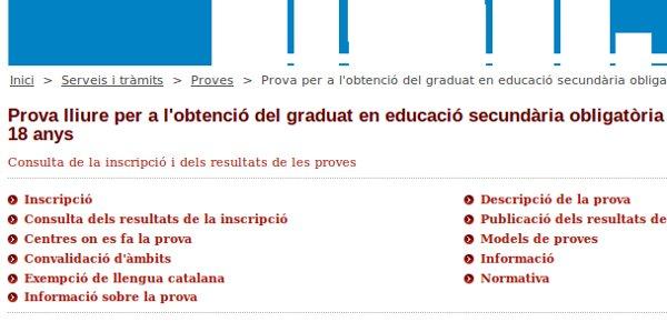 A punt de tancar el periode d'inscripció per a les proves lliures del Graduat en Secundària